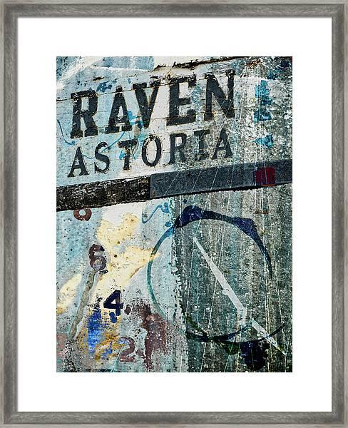 Raven Astoria  Framed Print
