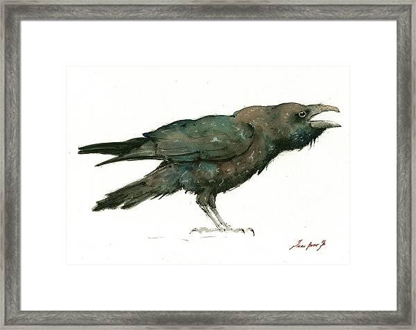 Raven Bird Framed Print