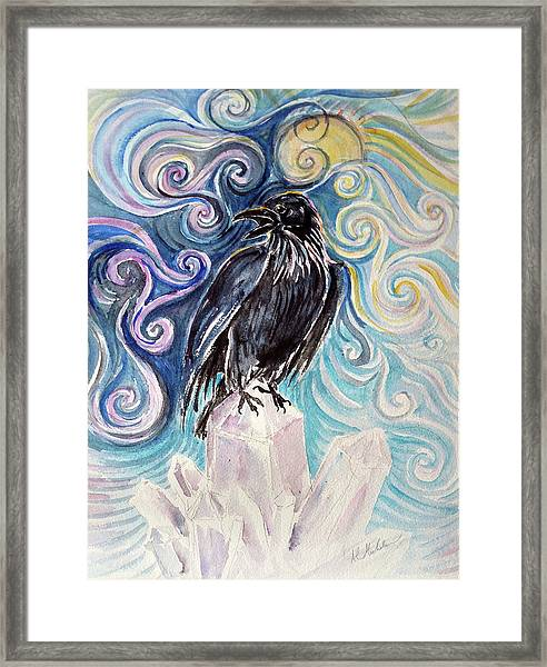 Raven Magic Framed Print