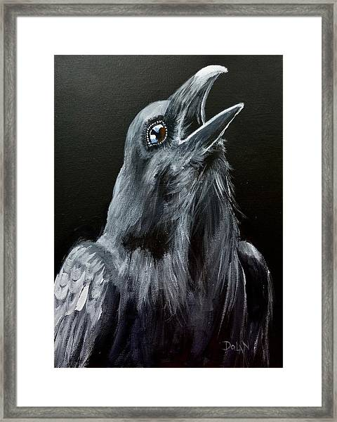 Raven Song Framed Print