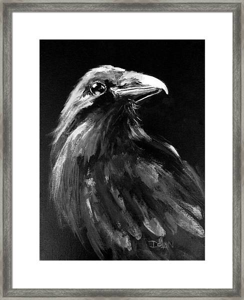Raven Watching Framed Print