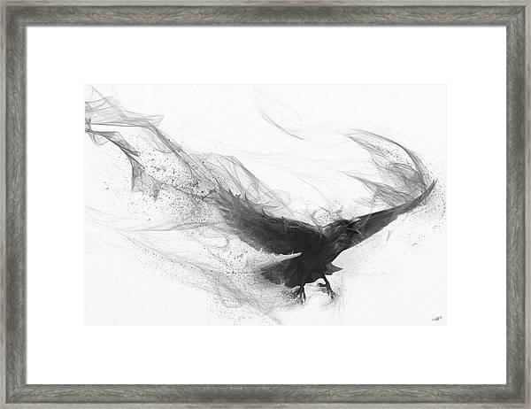 Raven's Flight Framed Print