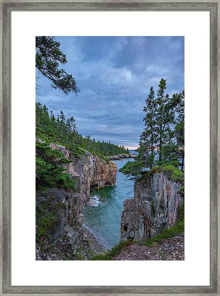 Raven's Nest Sunset Framed Print
