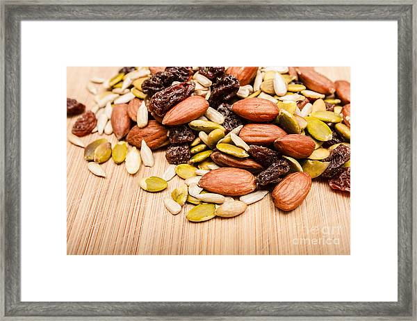 Raw Organic Nuts And Seeds Framed Print