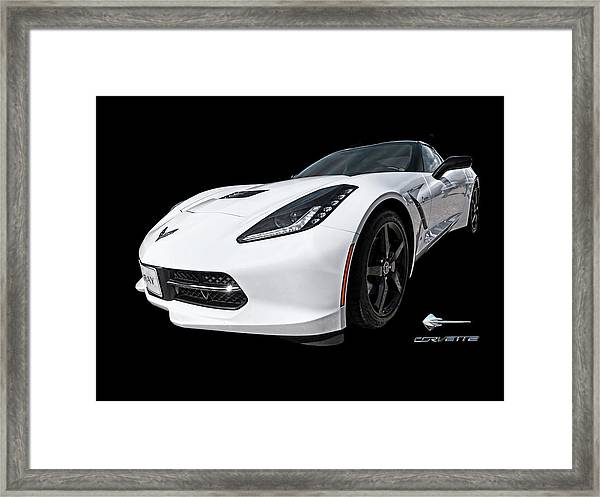 Ray Of Light - Corvette Stingray Framed Print