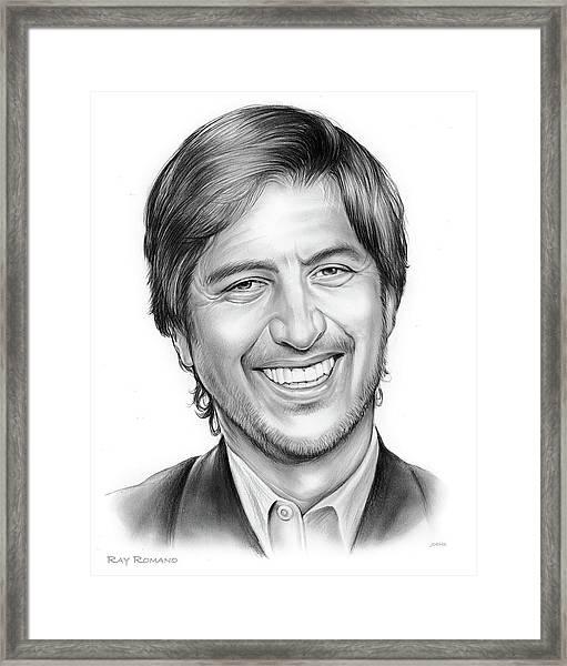Ray Romano Framed Print