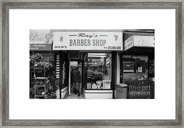 Ray's Barbershop Framed Print