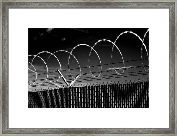 Razor Wire In The Sun Framed Print