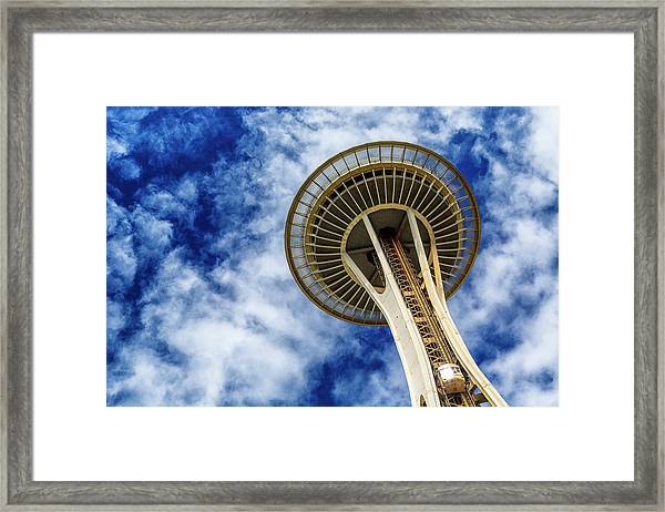 Reach For The Sky - Seattle Space Needle Framed Print