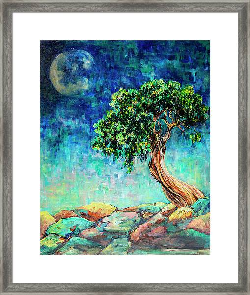 Reaching For The Moon #1 Framed Print