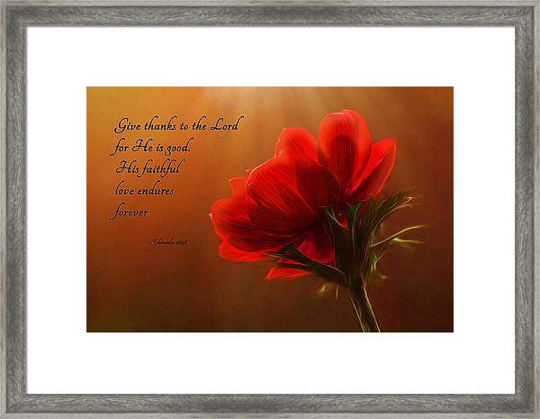 Reaching Inspiration Framed Print