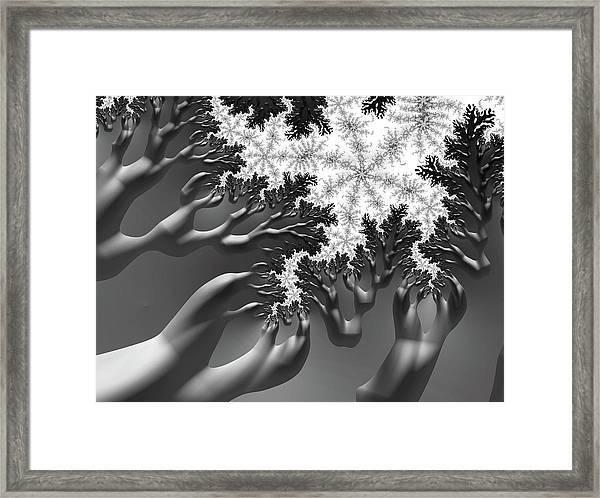 Reaching Framed Print