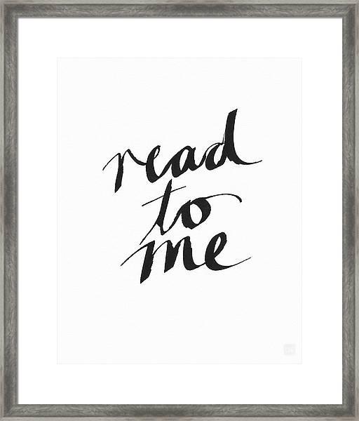 Read To Me- Art By Linda Woods Framed Print