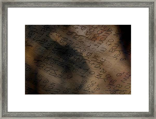 Reading Between The Lines Framed Print