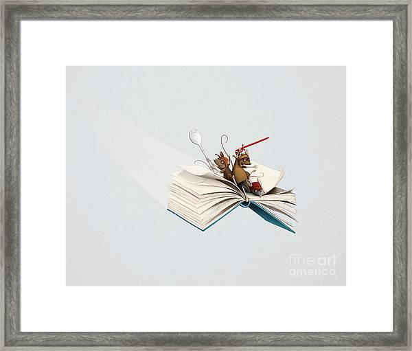 Reading Is An Adventure Framed Print