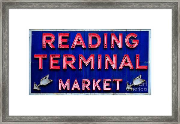 Reading Terminal Market Framed Print