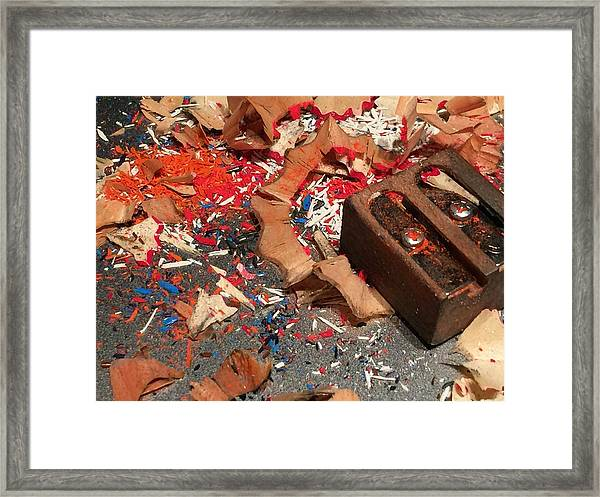 Ready-set-draw Framed Print