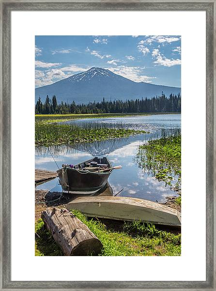 Ready To Fish Framed Print