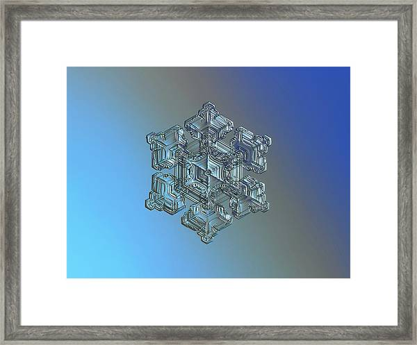 Real Snowflake - 05-feb-2018 - 5 Framed Print