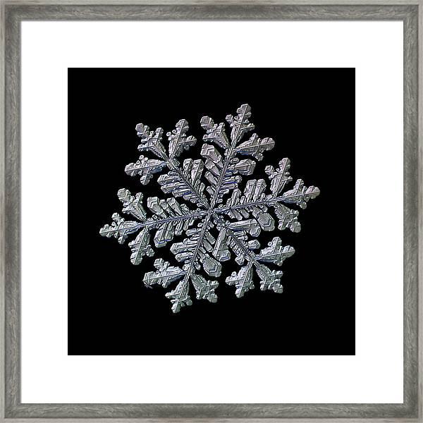 Real Snowflake - Hyperion Black Framed Print