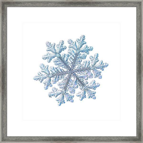 Real Snowflake - Hyperion White Framed Print