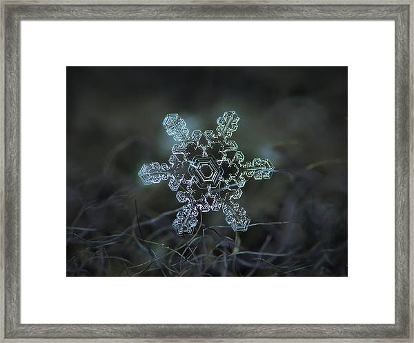 Real Snowflake - Slight Asymmetry New Framed Print