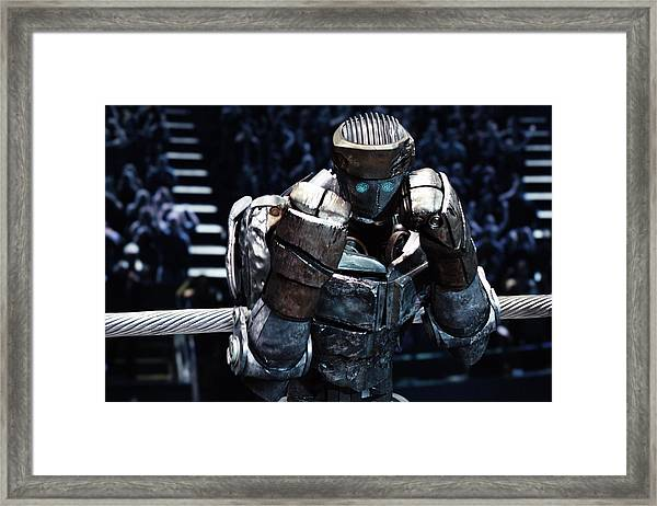 Real Steel Atom Framed Print