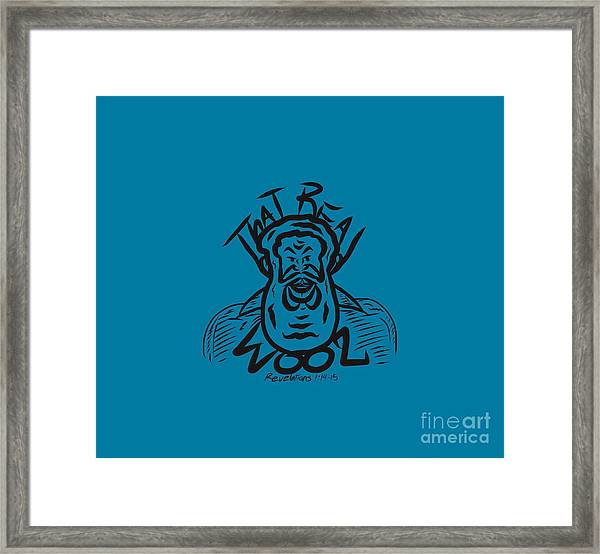 Real Wool Blue Framed Print