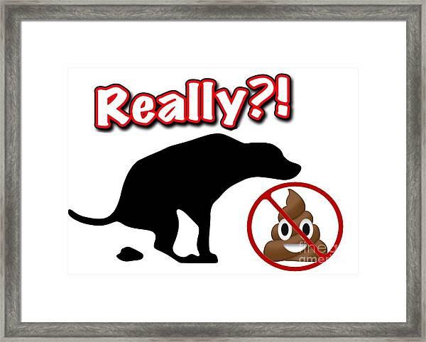 Really No Poop Framed Print