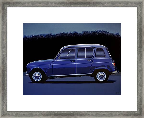Renault 4 1961 Painting Framed Print