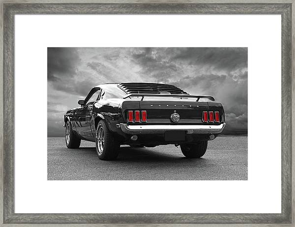 Rear Of The Year - '69 Mustang Framed Print