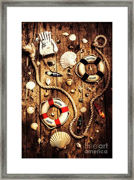 Rearranging The Deck Chairs Framed Print