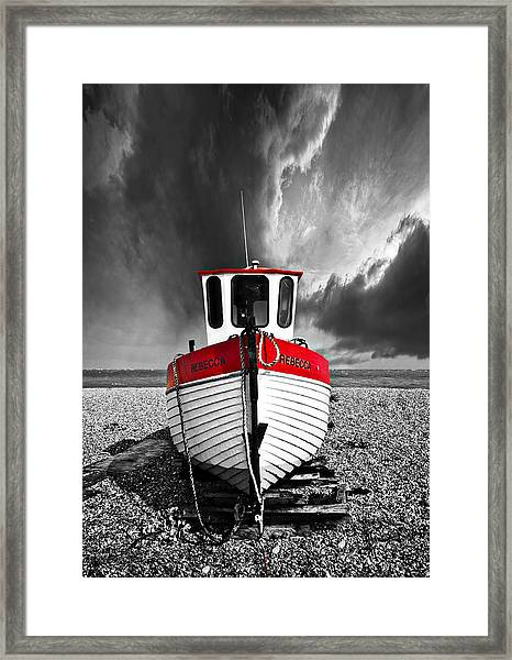 Rebecca Wearing Just Red Framed Print