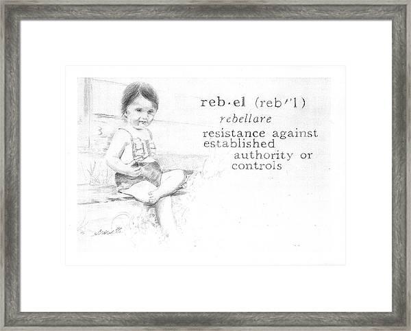 Rebel Framed Print by Janice Crow