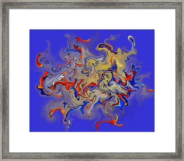 Rebilliosia V1 - Digital Abstract Framed Print