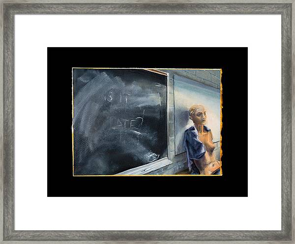 Framed Print featuring the painting Rebirth by Break The Silhouette