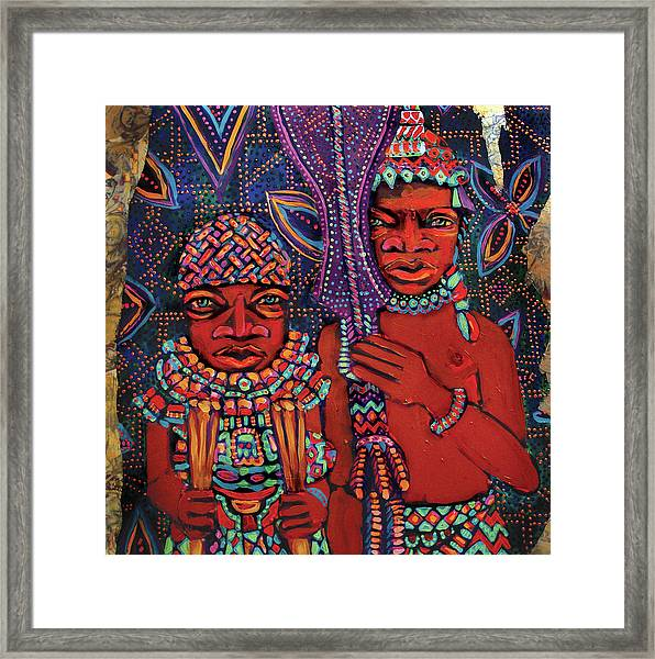 reCalling the Spirit Attendants with Paddles Framed Print