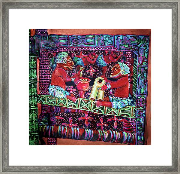reCalling the Spirit Seat of Power Framed Print