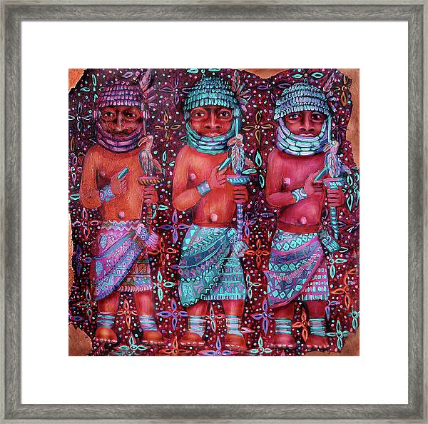 reCalling the Spirit Three Clappers Framed Print