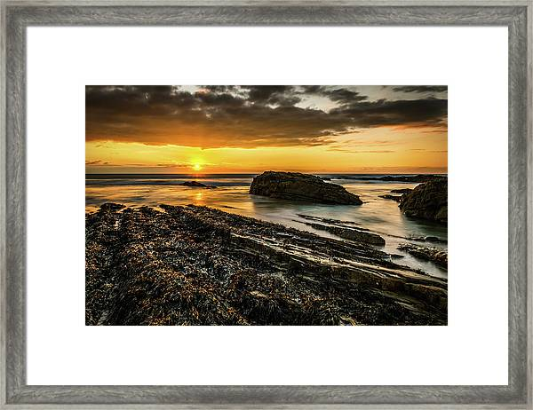 Framed Print featuring the photograph Receding Tide by Nick Bywater