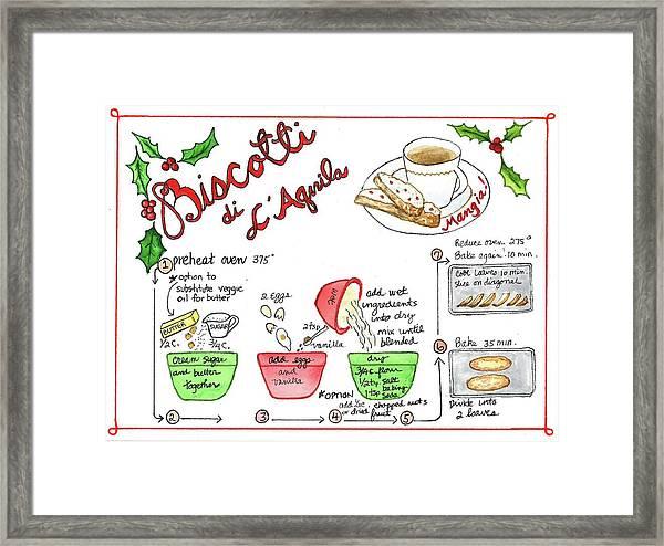 Recipe Biscotti Framed Print