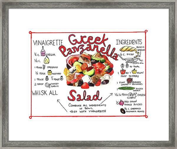 Recipe- Panzanella Salad Framed Print