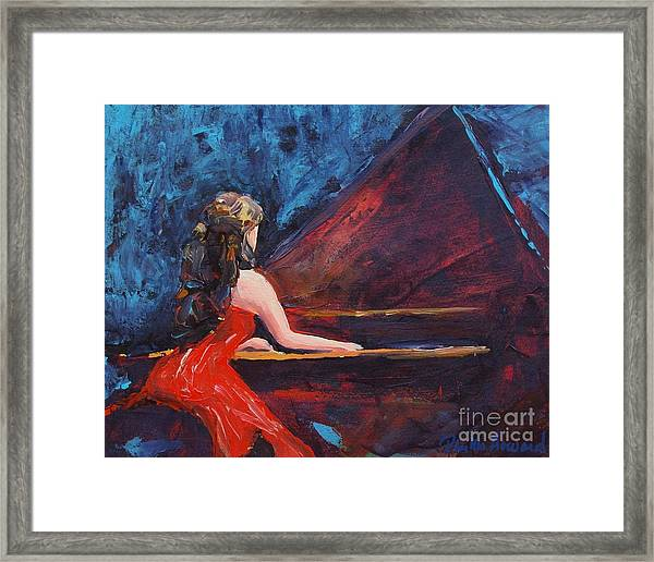 Recital In Red Framed Print