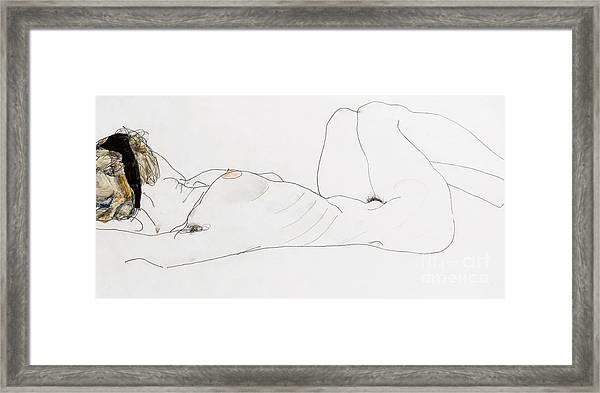 Reclining Female Nude Framed Print