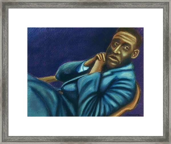 Reclining Man Framed Print by Helen O Hara