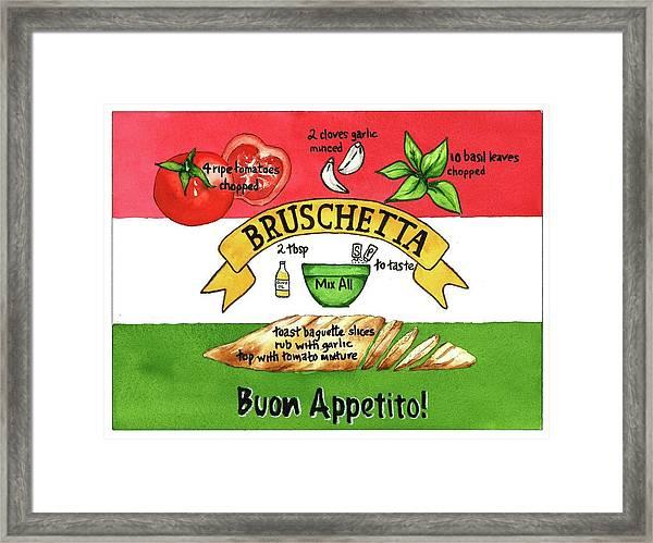 Recpe-bruschetta Framed Print