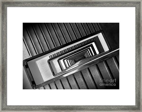 Rectangular Spiral Staircase Framed Print
