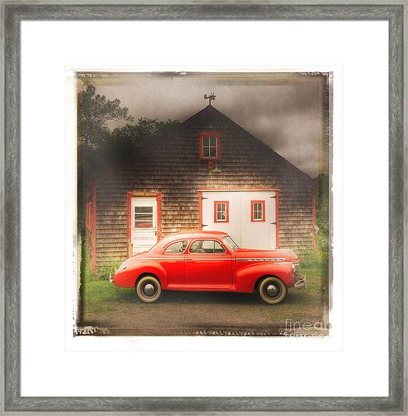 Red 41 Coupe Framed Print
