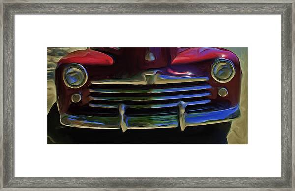 Red 47 Framed Print