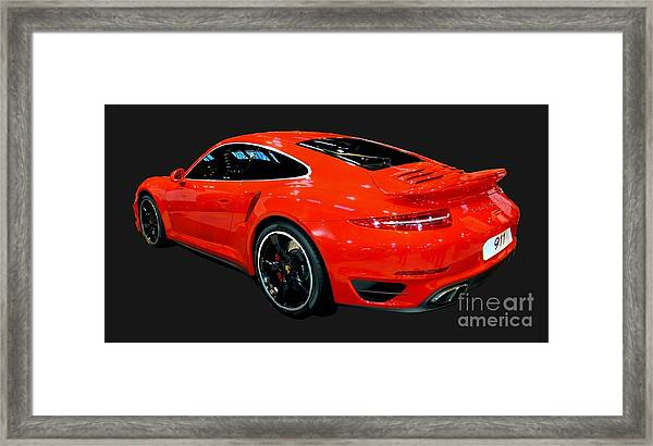 Red 911 Framed Print
